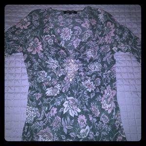 Tops - Half sleeve length floral print top